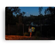Looking at the Blood Moon, September 27, 2015 Canvas Print