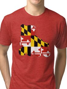 Maryland flag skate Tri-blend T-Shirt