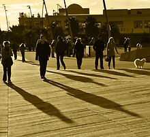 Afternoon Stroll in St Kilda by Peter Hammer