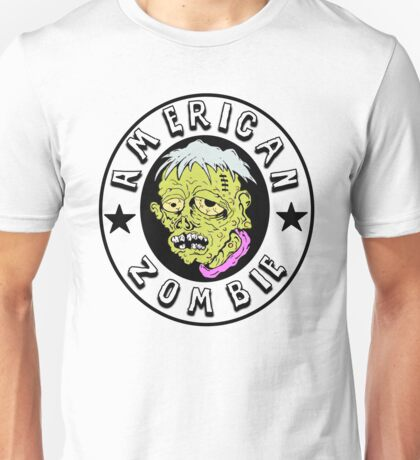 American Zombie Circle Face Part 2 Unisex T-Shirt