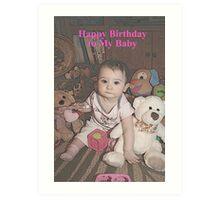 Happy Birthday Baby Art Print