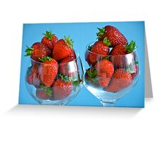 Strawberry Cocktails for Two... Greeting Card