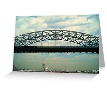 Vincent Thomas Bridge Span Greeting Card
