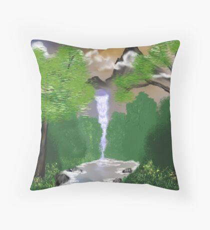 New Sun Digital Oil Painting Throw Pillow