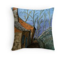119 - DURHAM VIEW - 1 - DAVE EDWARDS - WATERCOLOUR - SEP 2003 Throw Pillow