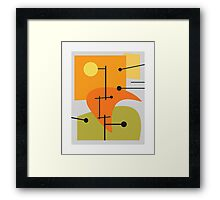Juxtaposing Thoughts Framed Print