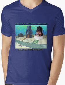 Wait... THAT'S NOT A PINEAPPLE!!! Mens V-Neck T-Shirt