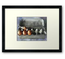 Protected...Eggs in Carton Framed Print