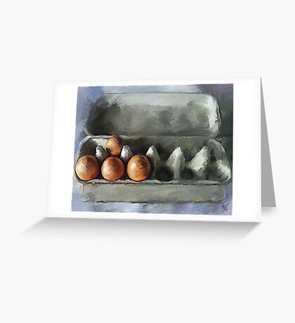 Protected...Eggs in Carton Greeting Card
