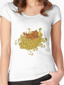 Sobanana Women's Fitted Scoop T-Shirt