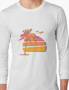 80's Sunset Long Sleeve T-Shirt