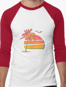 80's Sunset Men's Baseball ¾ T-Shirt