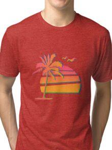 80's Sunset Tri-blend T-Shirt