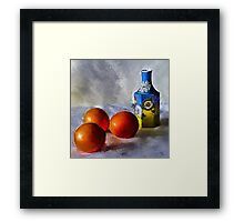 Orange, Yellow, Blue...Close to You Framed Print