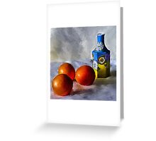Orange, Yellow, Blue...Close to You Greeting Card