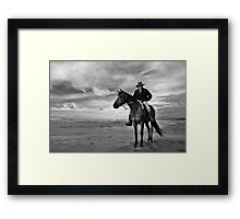 hunts beach, south westland, nz Framed Print