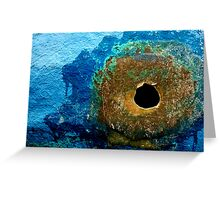 Hole in Blues Greeting Card