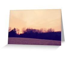 Sunset Over the Hay Fields Greeting Card