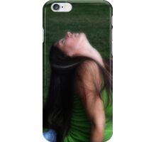 Yoga in the park iPhone Case/Skin