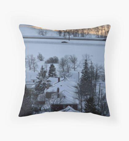 Northern Winter Throw Pillow