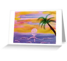 Dreaming of this scene, watercolor Greeting Card