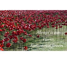 Remembered Forever - Poppies at the Tower Photographic Print