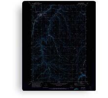 USGS Topo Map Oregon Moro 280794 1971 24000 Inverted Canvas Print