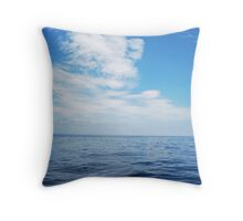 East Coast Blues Throw Pillow