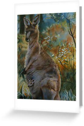 Kangaroos in the mist by Natasha Hodgson