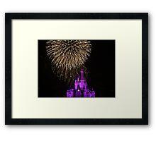 Magic Kingdom Fireworks Framed Print