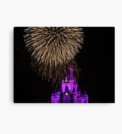 Magic Kingdom Fireworks Canvas Print