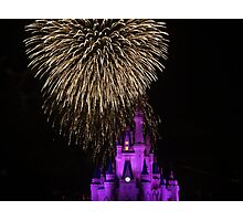 Magic Kingdom Fireworks Photographic Print