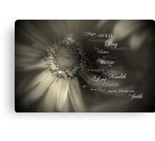 Traditional Vows Canvas Print