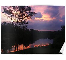 Reflections of a Sunset Poster