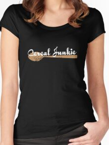 Cereal Junkie - White Text Women's Fitted Scoop T-Shirt