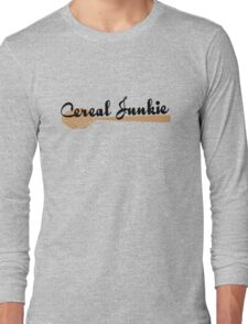 Cereal Junkie - Black Text Long Sleeve T-Shirt