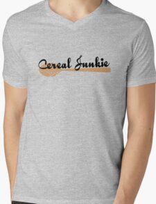 Cereal Junkie - Black Text Mens V-Neck T-Shirt