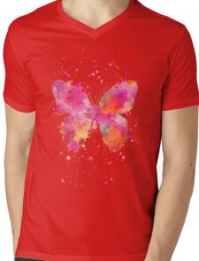 Butterfly Mens V-Neck T-Shirt