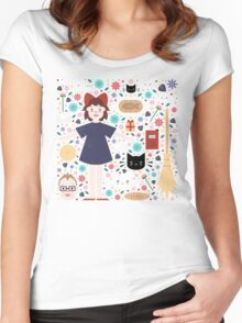 Kiki's Delivery Service Women's Fitted Scoop T-Shirt