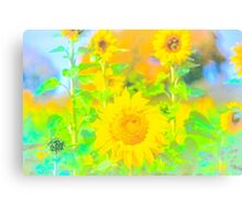 Rigby Idaho  Sunflower Feelings Canvas Print