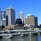 Brisbane In Blue by CatherineWinter