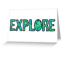 Explore Tie Dye Greeting Card