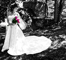 Black & White Bride by Jamie Cameron