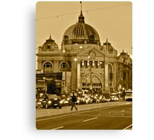 Flinders Street Rush Hour Canvas Print