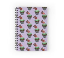Chocolate Mint Cherry Cupcake Spiral Notebook