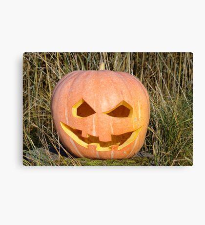 scary pumpkin head Canvas Print