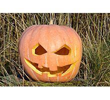 scary pumpkin head Photographic Print