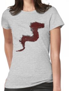 Dragon Sketch Womens Fitted T-Shirt