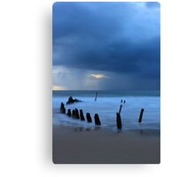 Shipwreck Sunrise 3 Canvas Print