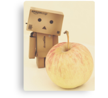 Danbo - a apple a day keeps the doctor away Canvas Print